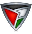 steel shield with flag jordan vector image