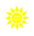 sun icon hello summer vector image vector image