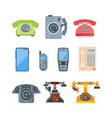 telephones vintage old style vector image vector image