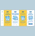translation service onboarding mobile web pages vector image vector image