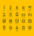 transport icons front view part ii vector image