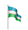 uzbekistan flag on a white vector image
