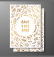 wedding vintage invitationsave date card vector image vector image