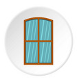 wooden brown window icon circle vector image vector image