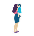 young mother with a kid people concept flat icon vector image