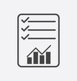 checklist icon graph flat vector image