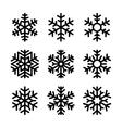 Snowflake Icons Set on White Background vector image
