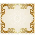 Frame on lace background vector image