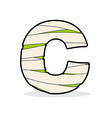 Letter C Egyptian zombies ABC sign coiled medical vector image