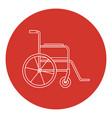 line art style wheelchair icon vector image