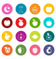 apple icons many colors set vector image vector image