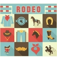 assortment rodeo themed icons vector image vector image
