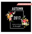 autumn t-shirt floral design with lily flowers vector image