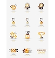 Award icon set Logo collection vector image vector image
