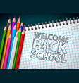 back to school design with colorful pencil and vector image vector image