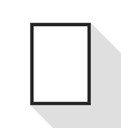 Blank picture frame on white wall vector image vector image
