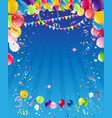 blue birthday background vector image vector image