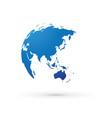 blue world earth globe asia japan vector image