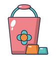 bucket icon cartoon style vector image vector image