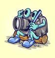 cartoon camera photography mascot vector image