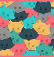 cat face seamless pattern home pet background vector image vector image