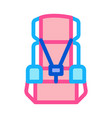 child seat chair icon outline vector image