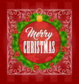 christmas background one vector image vector image