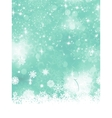 Christmas blue background with snow flakes EPS 8 vector image