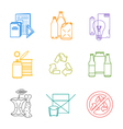 colored groups outline various garbage separate vector image vector image