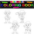 Cowboys coloring book vector image