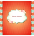 Cute orange and mint happy birthday card vector image vector image
