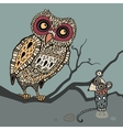 Decorative owl and mouse cartoon vector | Price: 1 Credit (USD $1)