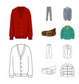 design of man and clothing icon collection vector image vector image