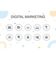 digital marketing trendy infographic template vector image