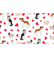 dogs seamless pattern vector image vector image