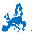 european union territory blue silhouette isolated vector image vector image