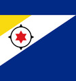 flag of bonaire in official rate and colors vector image vector image