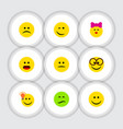 flat icon emoji set of caress have an good vector image vector image