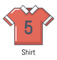 football shirt icon cartoon style vector image vector image