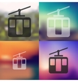 funicular icon on blurred background vector image