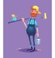 funny painter cartoon character vector image
