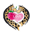 Giraffes and love vector image vector image