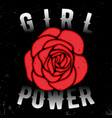 girl power t shirt print vector image