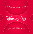 Greeting card to womens day
