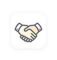 handshake icon partnership shaking hands vector image