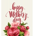 happy mothers day lettering card greeting card vector image vector image