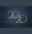 happy new year 2020 logo text design new year vector image vector image