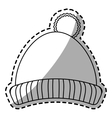 Hat of winter cloth design vector image vector image