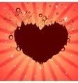 Heart dreams background vector image
