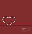 Heart ribbon on red background minimal style for vector image vector image